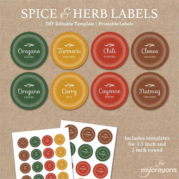 7+ Spice Jar Label Templates - Free Printable PSD, Word, PDF Format