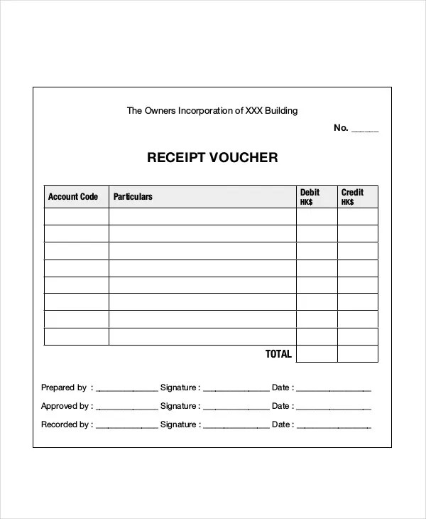 6+ Receipt Voucher Templates - Free PSD, Vector AI, EPS Format - Cash Receipt Voucher Word Format