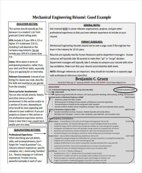 sample resume for post grad