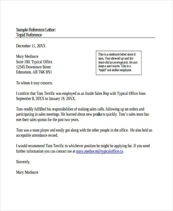 Reference Letter Format For Acs | Making A Resume Look Good