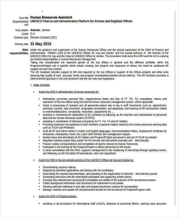 6+ HR Reference Letter Templates - 6+ Free Word, PDF Format Download - hr letter