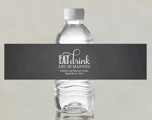 15+ Wedding Water Bottle Label Templates - Free Printable PSD, Word
