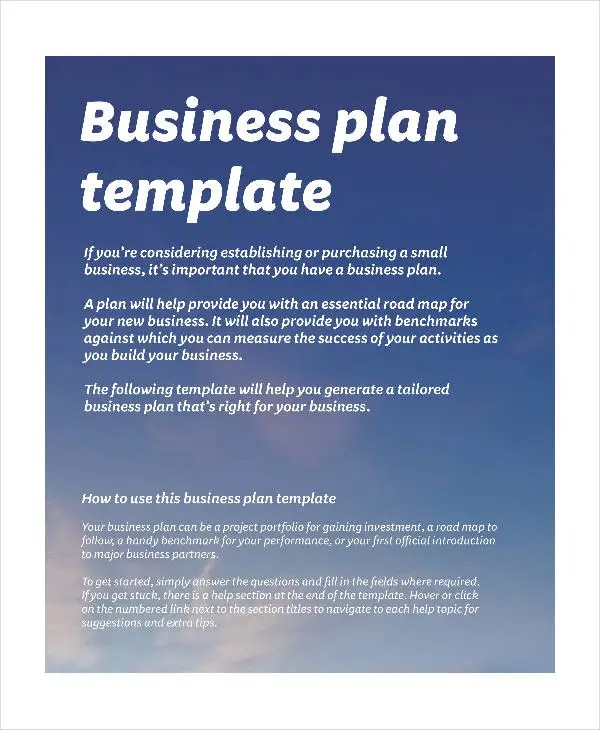 Business Continuity Plan Template Business Continuity Basic Business Plan Templates 9 Free Pdf Format