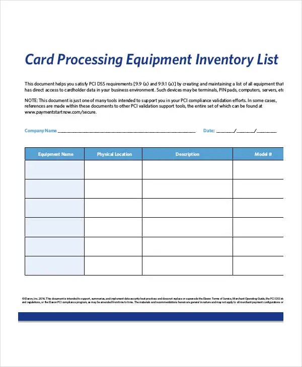 Inventory card template ophion equipment inventory list templates 9 free word altavistaventures Images