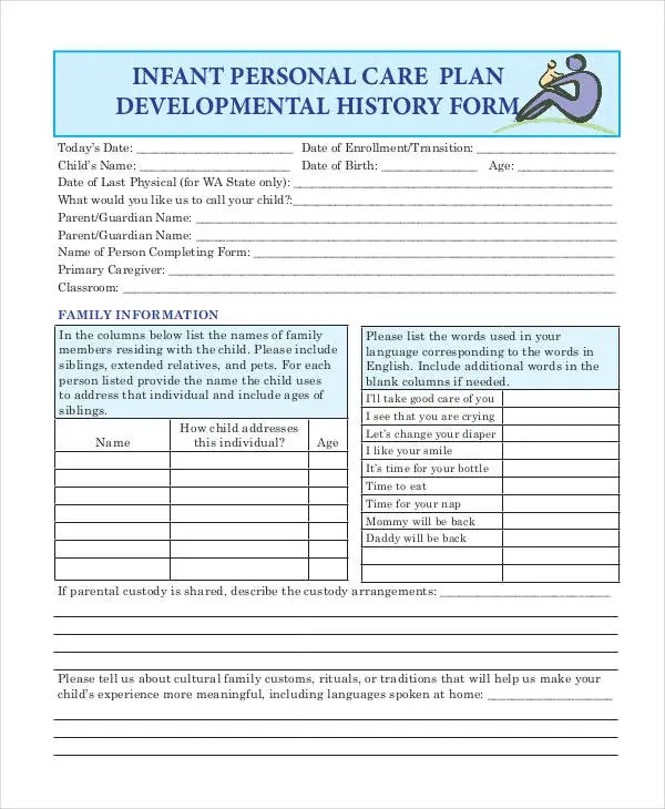 Personal Care Plan Templates - 12+ Free PDF Format Download! Free - care plan template