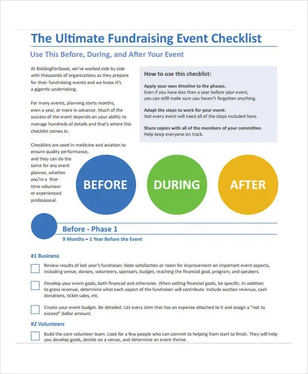 Event to Do List Templates - 7+ Free Word, PDF Format Download