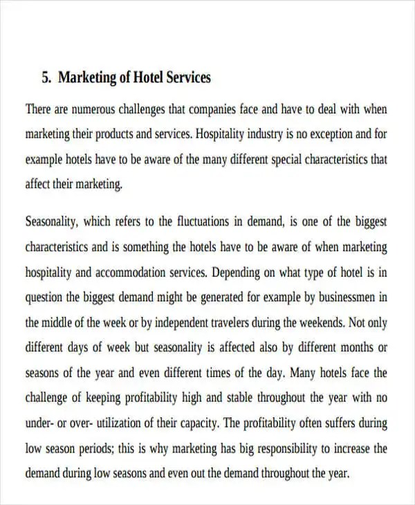 Hotel Sales Plan Templates - 5+ Free Word, PDF Format Download - how to write a sales plan template