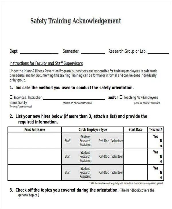 Training Acknowledgement Letter Templates - 8+ Free Word, PDF Format