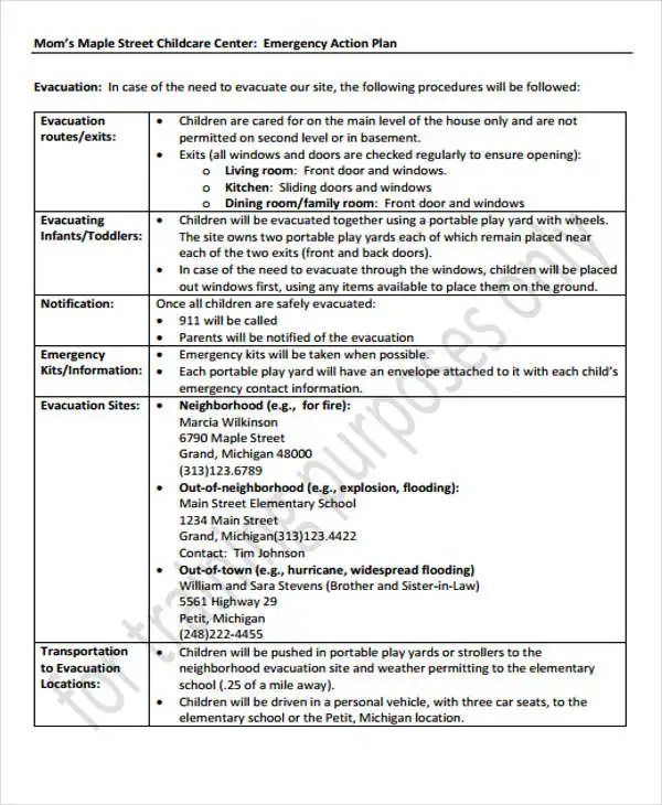 child care templates - Baskanidai