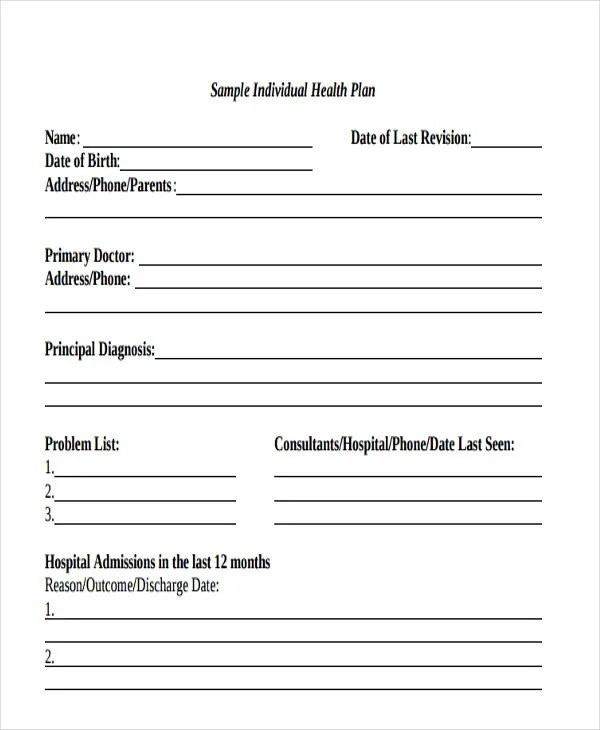 Health Care Plan Template - 12+ Word, PDF Format Download! Free