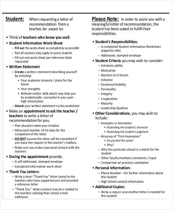 Academic Reference Letter Templates - 5+ Free Word, PDF Format