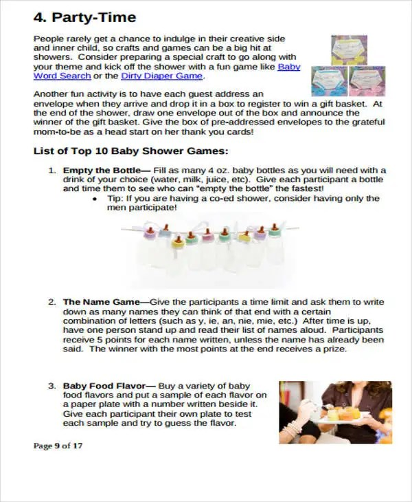 Baby Shower to Do List Templates 4+ Free Word, PDF Format Download