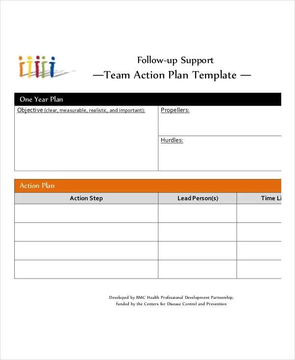 Team Action Plan Templates - 9+ Free PDF Format Download! Free