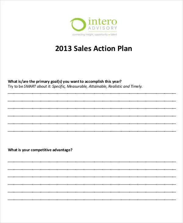 Personal Sales Plan Templates - 5+ Free PDF Format Download! Free - sales plan template