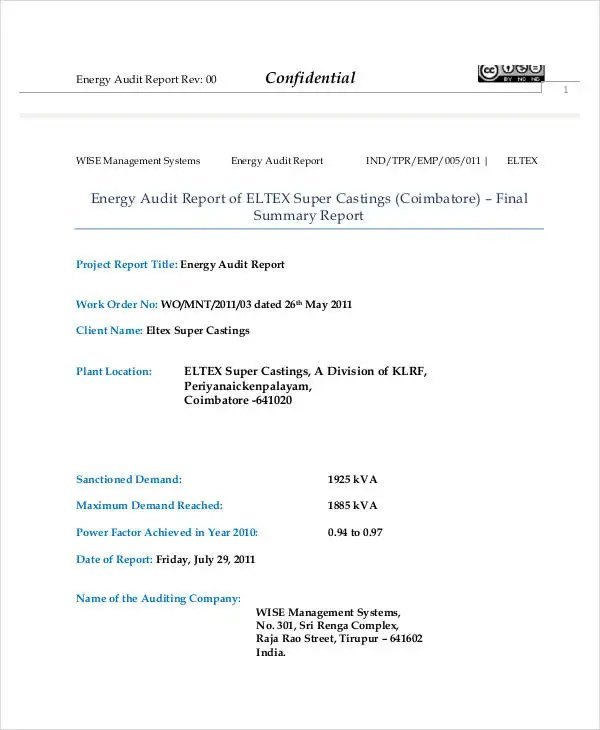 Quality Audit Report Templates - 10+ Free Word, PDF Format Download - audit summary template