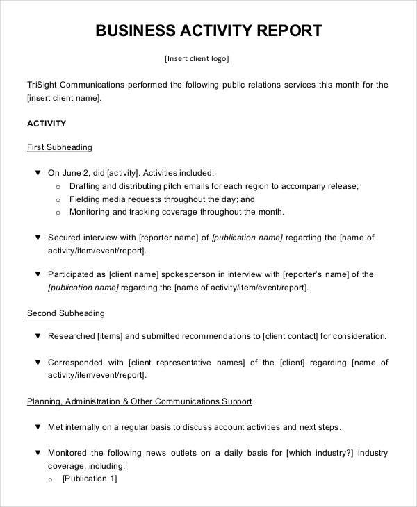 format a report - Onwebioinnovate - business trip report format