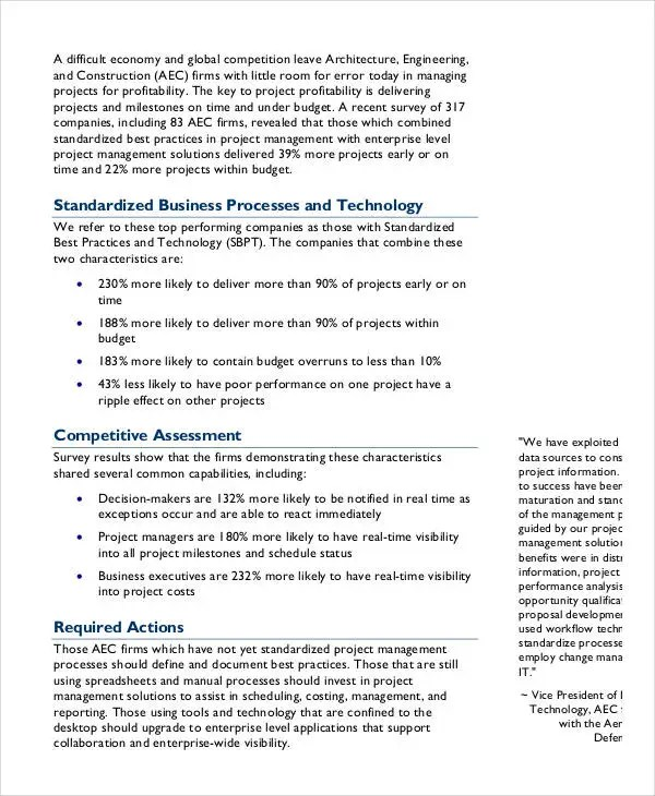 Project Management Report Templates - 7+ Free PDF Format Download - project management report templates