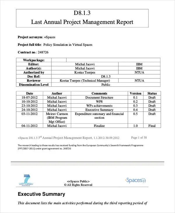 project management report sample I Will Tell You The Truth