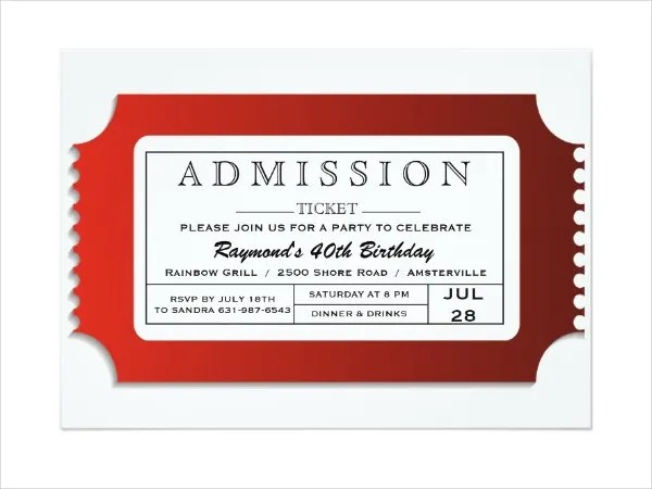 free admission ticket template - Bire1andwap - ticket paper template