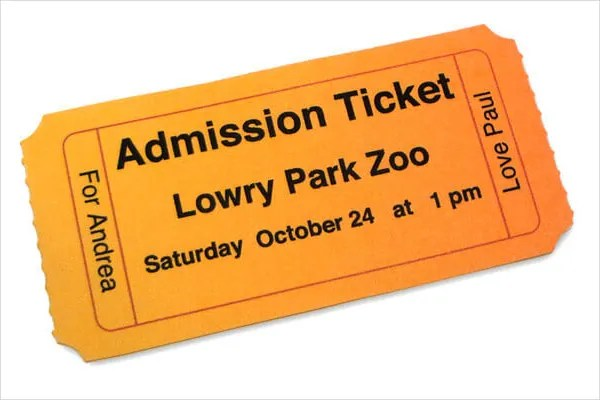 8+ Admission Ticket Templates - Free PSD, AI, Vector EPS Format - admission tickets template