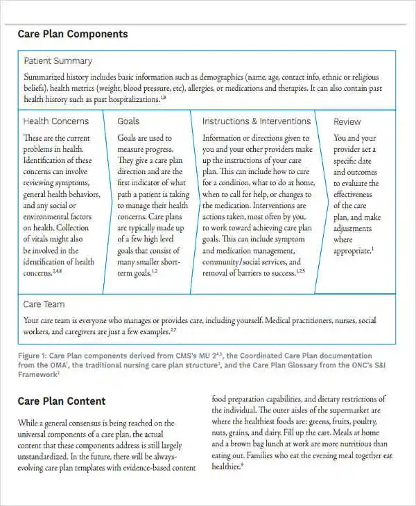 8+ Basic Care Plan Templates - Free Word, PDF Format Download - care plan template