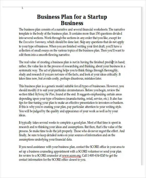 Personal Business Plan Templates - 6+ Free Word, PDF Format Download