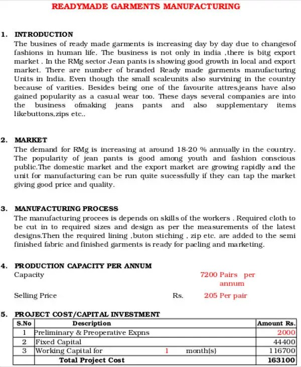 Manufacturing Business Plan Templates - 13+ Free Word, PDF Format - retail business plan essential parts