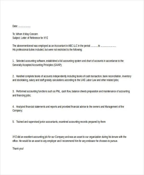 Job References In Uk Job Vacancies Job Vacancies University Of Essex Accountant Reference Letter Templates 8 Free Word Pdf