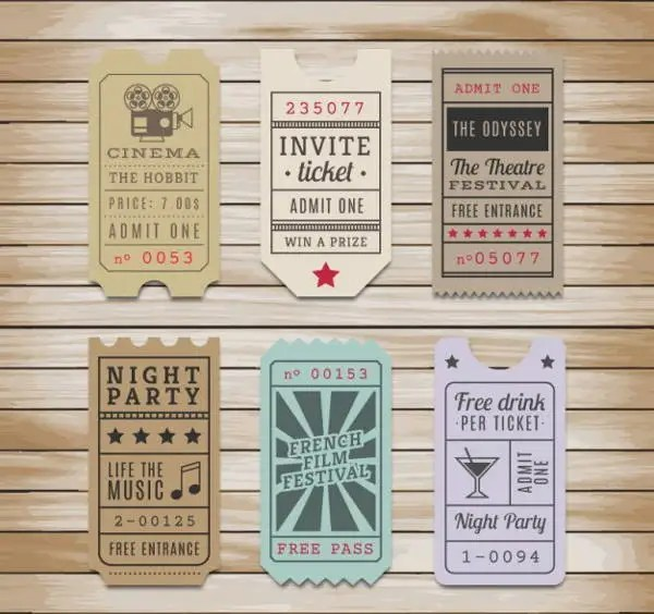 9+ Vintage Ticket Templates - Free PSD, AI, Vector EPS Format