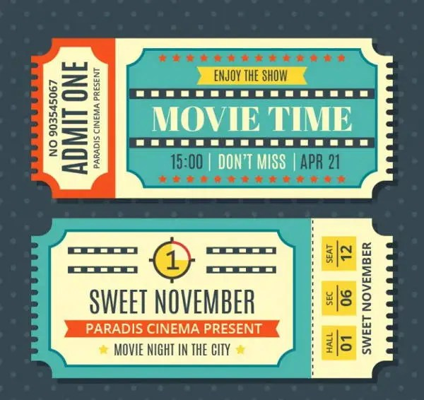 9+ Vintage Ticket Templates - Free PSD, AI, Vector EPS Format - movie ticket template