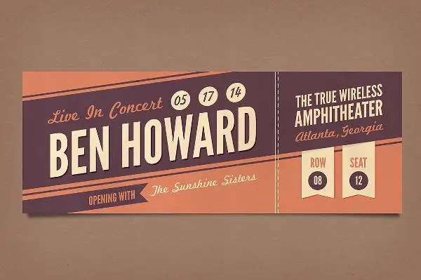 9+ Vintage Ticket Templates   Free PSD, AI, Vector EPS Format #66