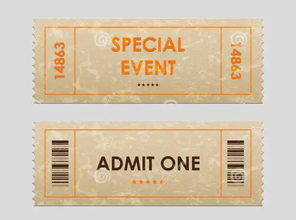 Entry Ticket Template - Fiveoutsiders - entry ticket template