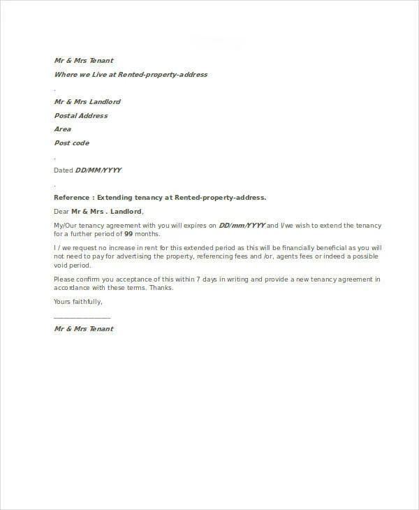rent payment letter
