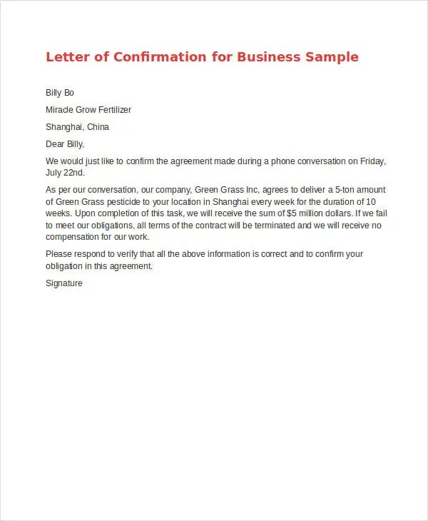 Agreement Letter Templates - 11+ Free Sample, Example, Format - agreement letter