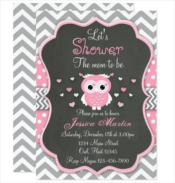 14+ Baby Shower Invitations - Free Sample Example, Design, Template