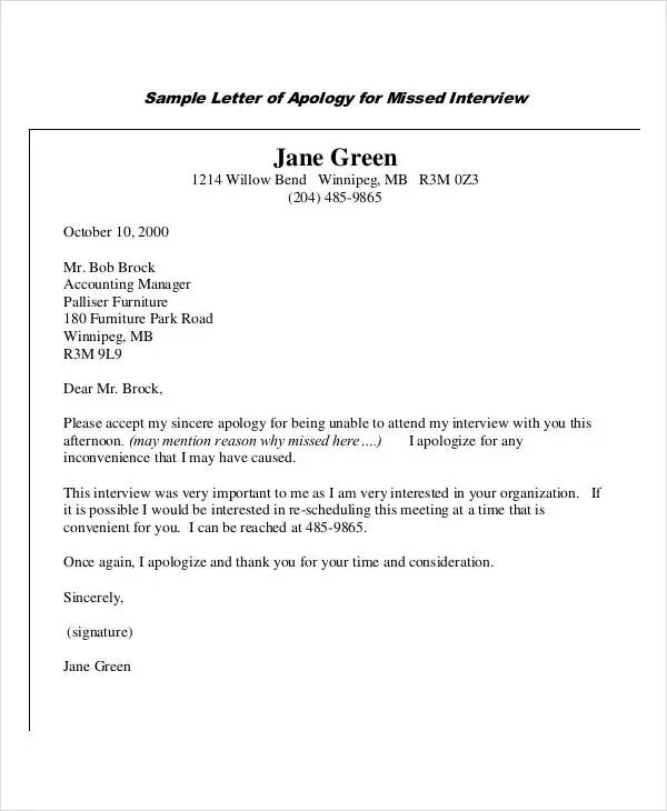 Apology Letter Templates - 15+ Free Word, PDF Documents Download