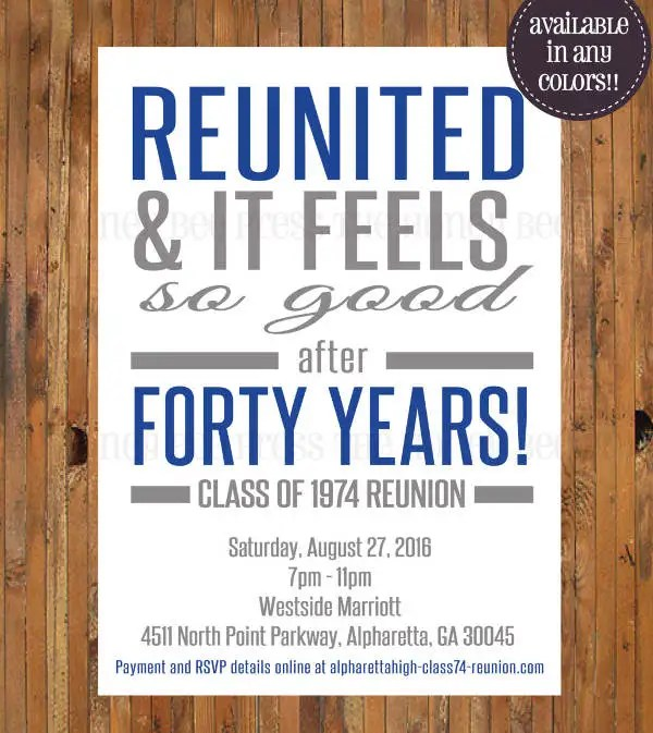 10+ Reunion Invitation Templates - Free Editable PSD, AI, Vector EPS