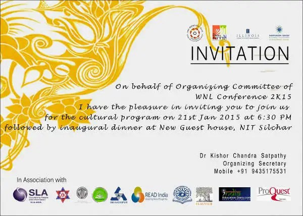 10+ Conference Invitation Templates - Word, Illustrator, Publisher