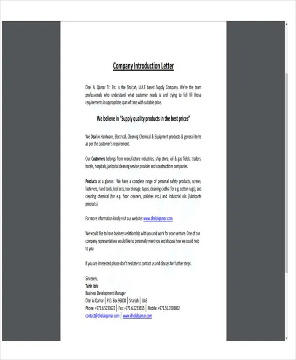 Company-introduction-letter-format-100 accounting  finance cover - introduction letter format