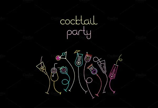 12+ Cocktail Party Invitations - Word, PSD, AI, EPS Free  Premium