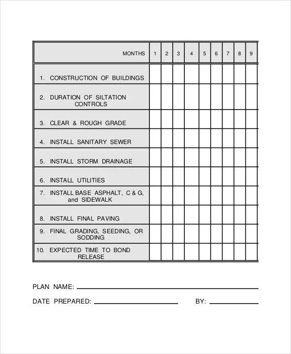 Construction Work Schedule Templates - 8+ Free Word, PDF Documents