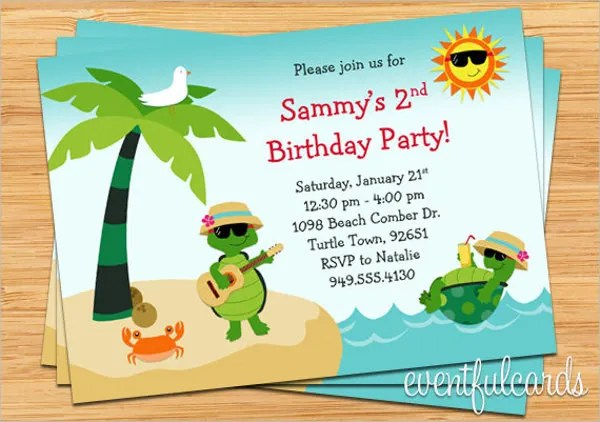 12+ Beach Party Invitation Designs  Templates - PSD, AI Free