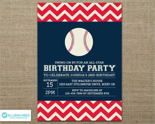 baseball invitation template