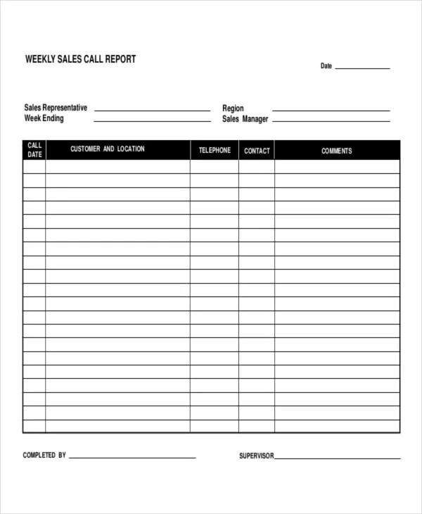 5+Daily Call Report Templates - 5+ Free Word, PDF Format Download - sales call report template