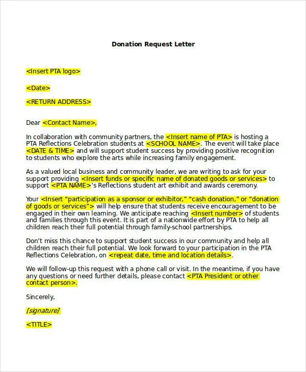 letter of request sample format - Boatjeremyeaton - letters of request format