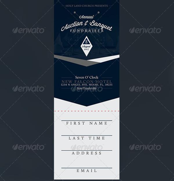 dinner ticket template word