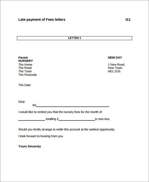 late payments letter template - Canasbergdorfbib