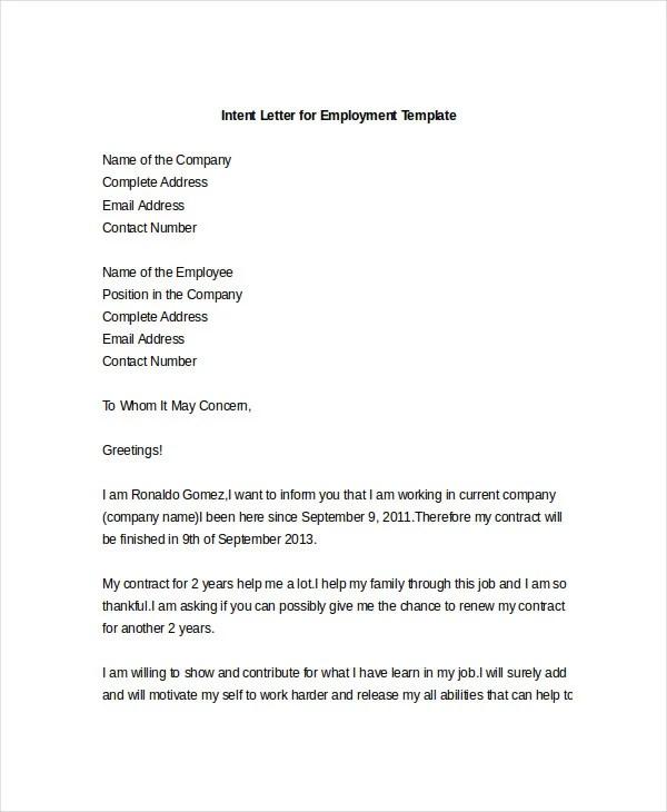 letter intent - Onwebioinnovate - intent letter format