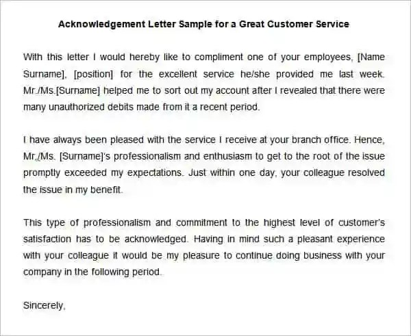 Writing A Good Customer Service Letter - Customer Service Cover