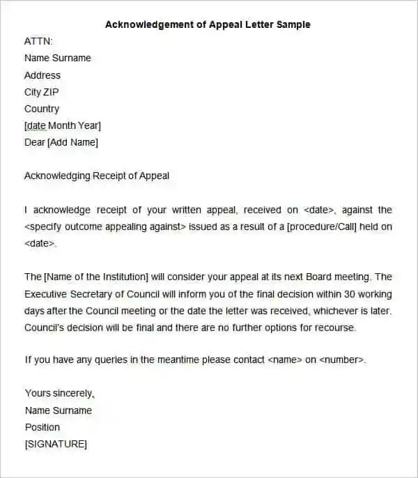 34+ Acknowledgement Letter Templates - PDF, DOC Free  Premium